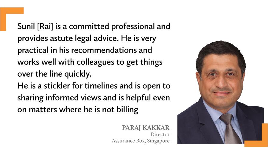 A quote by Paraj Kakkar on Sunil Rai