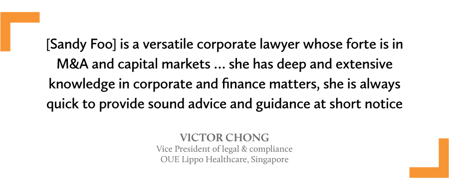 A quote by Victor Chong to Sandy Foo