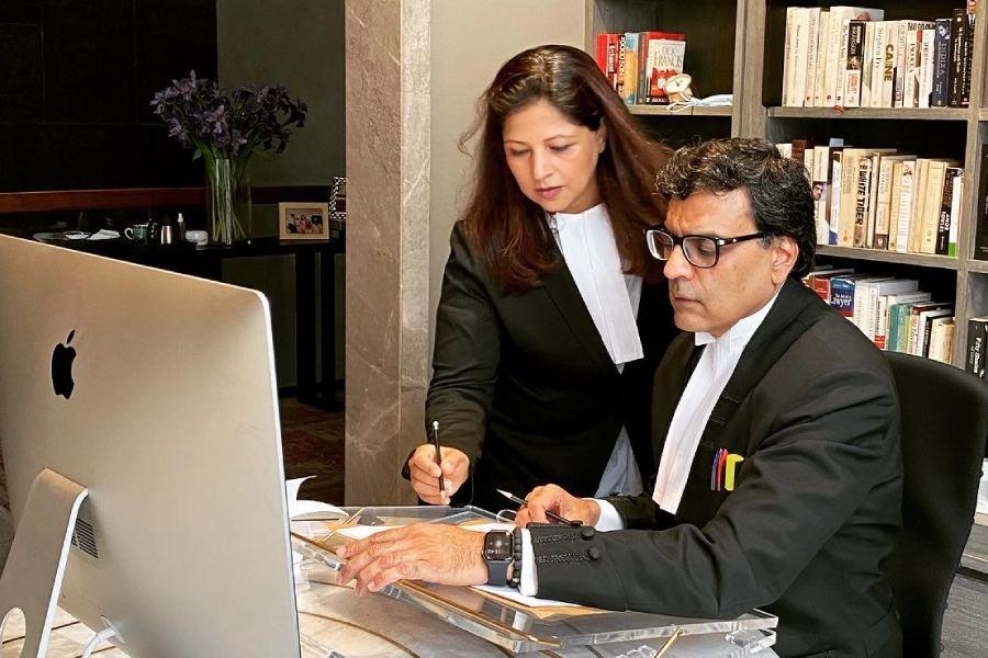 Senior advocate Vikas Pahwa attends a virtual court hearing 222