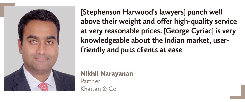 Top-foreign-law-firms-India-Nikhil-Narayanan-Partner-Khaitan-&-Co