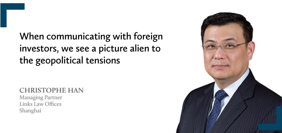 Christophe Han Managing partner Links Law Offices Shanghai