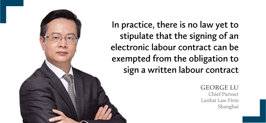 George Lu Chief partner Lanbai Law Firm Shanghai