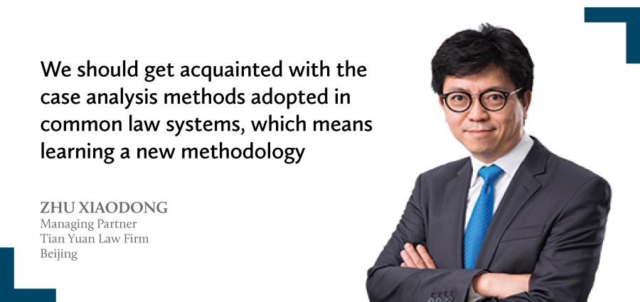 Zhu Xiaodong Managing partner Tian Yuan Law Firm Beijing